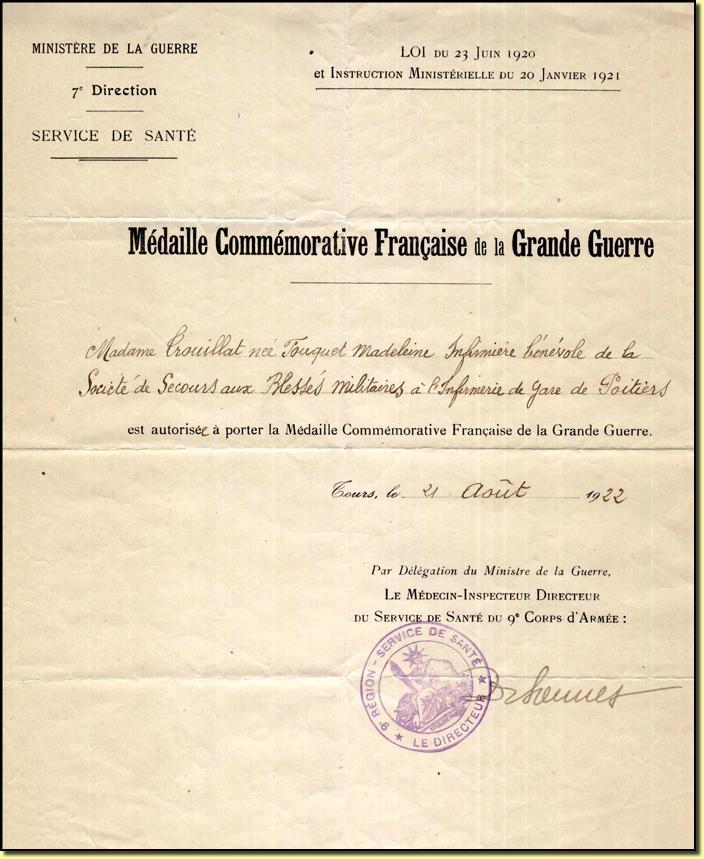 Souvent France - Commemorative 14-18 FZ36